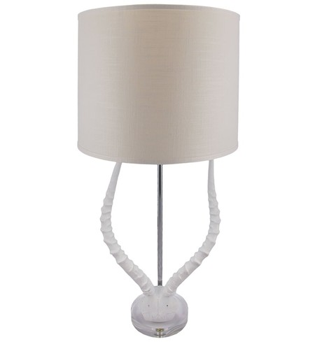 "Faux Horn 31"" Table Lamp"