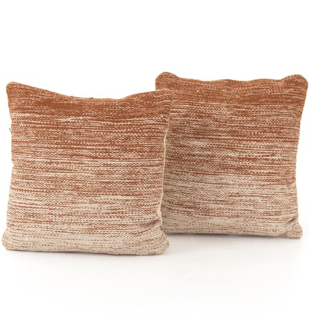 "Tawny Ombre 20"" Pillow (Set of 2)"