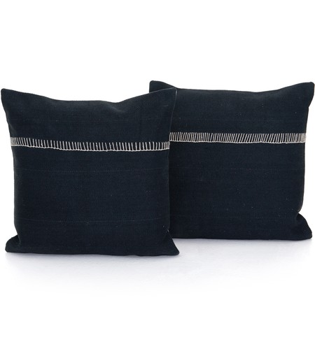 "Alese Charcoal 20"" Pillow (Set of 2)"