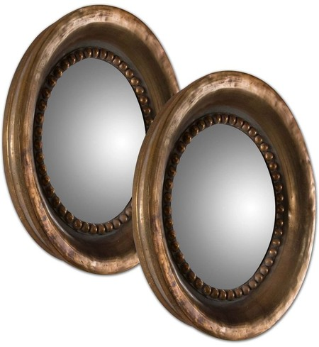 Tropea Rounds Wood Mirrors (Set of 2)