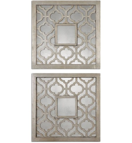 Sorbolo Squares Decorative Mirrors (Set of 2)