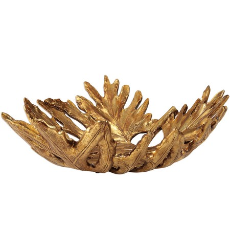 Oak Leaf Metallic Gold Bowl
