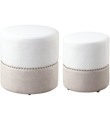 Tilda TwoToned Nesting Ottomans (Set of 2)