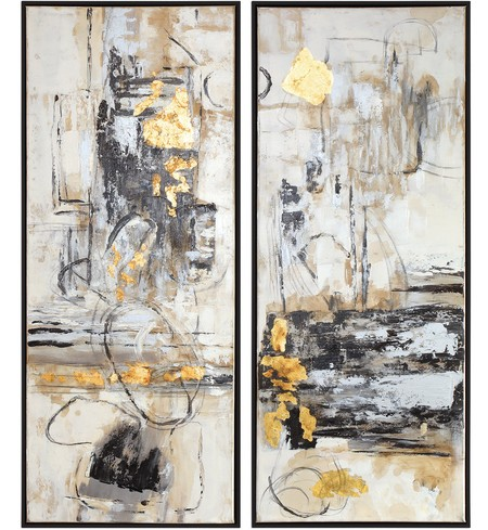 Life Scenes Abstract Art (Set of 2)