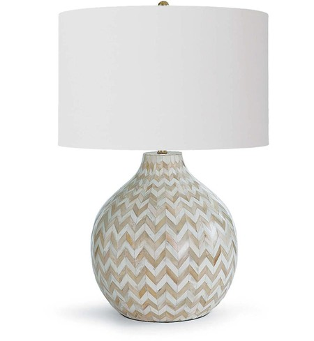"Chevron Bone 25.25"" Table Lamp"
