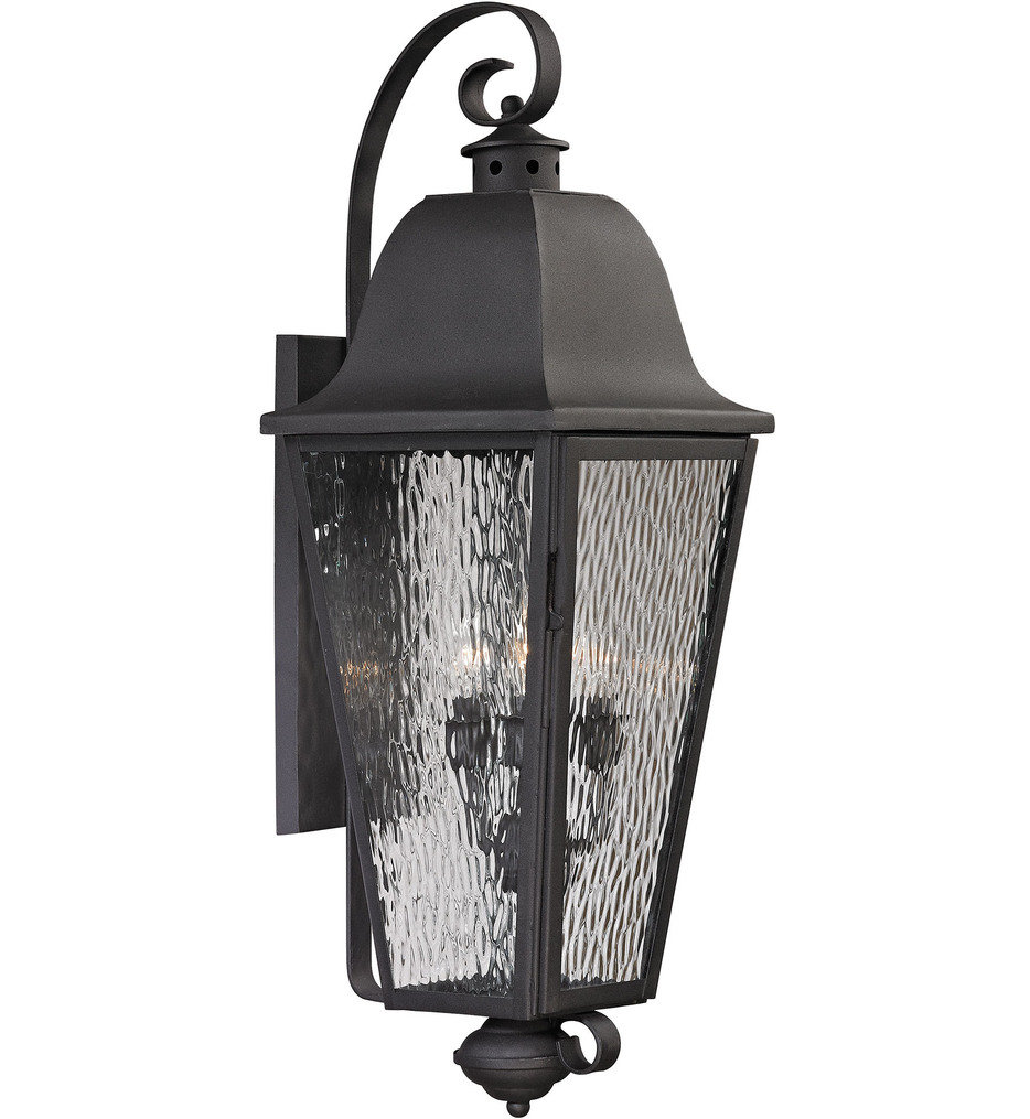 ELK Lighting - 47103/4 - Forged Brookridge Charcoal 13 Inch 4 Light Outdoor Wall Sconce