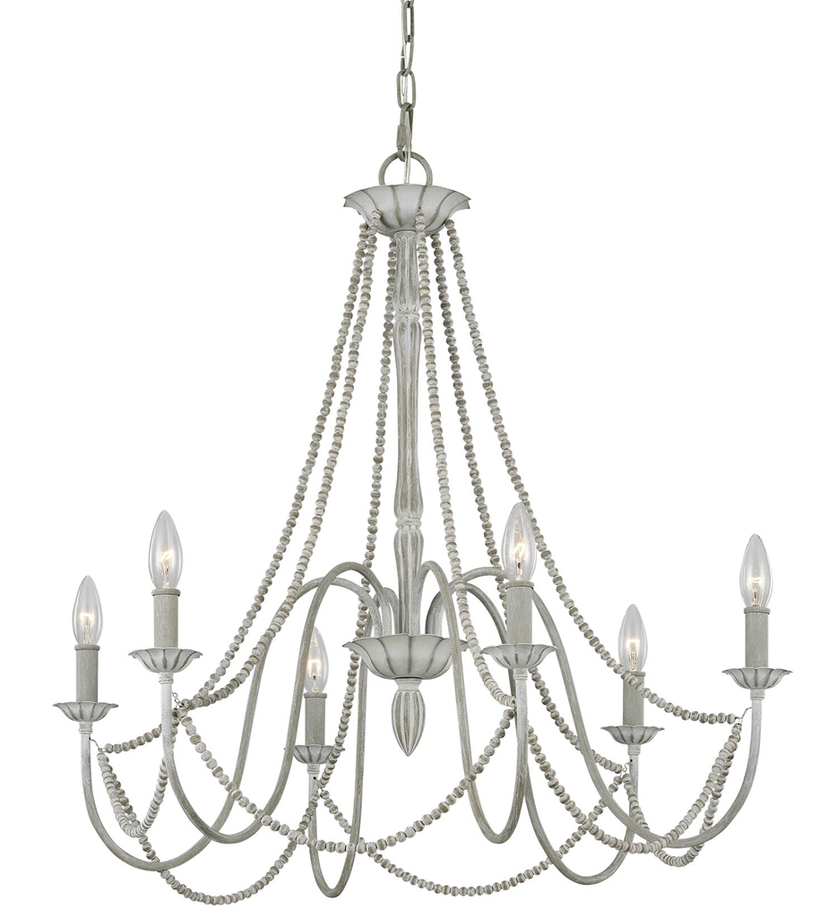 Feiss - F3240/6WGR - Maryville Washed Grey 6 Light Chandelier