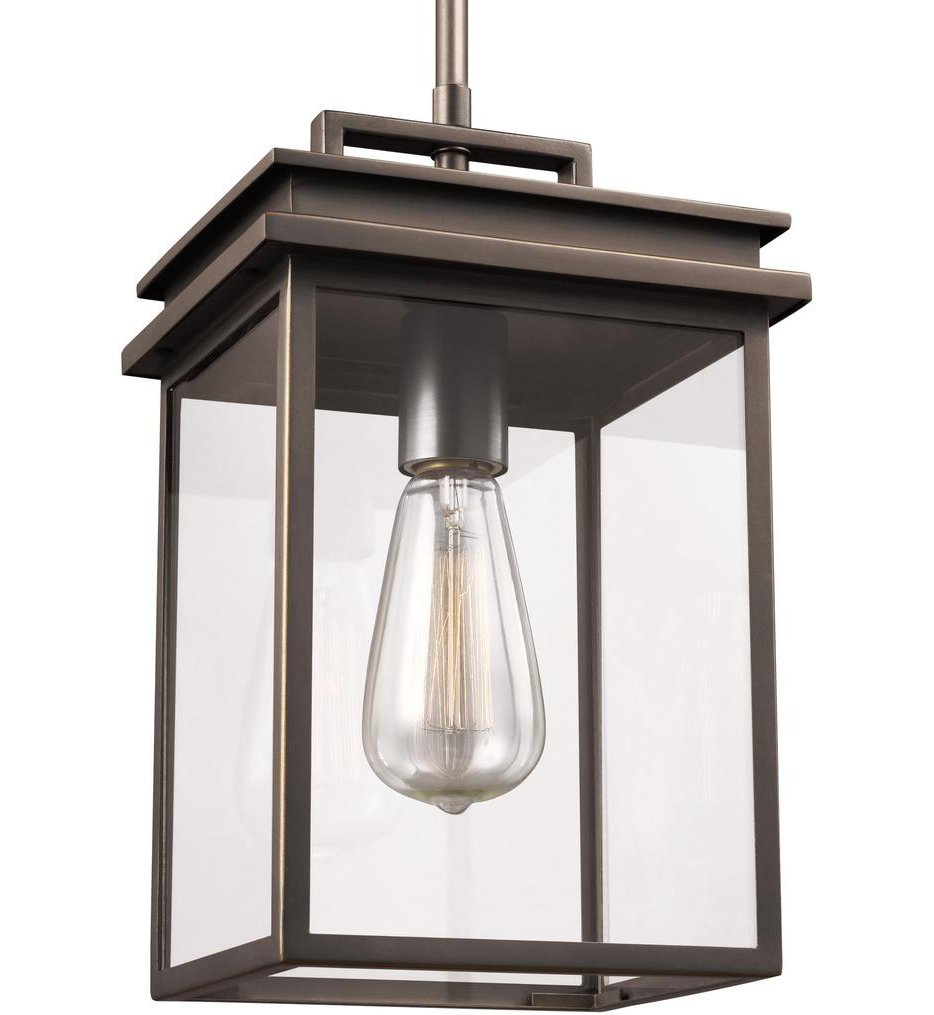 Feiss - OL13609ANBZ - Glenview Antique Bronze 13 Inch Outdoor Hanging Lantern