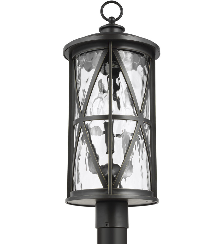 Feiss - OL15207ANBZ - Millbrooke Antique Bronze 3 Light Outdoor Post Lantern
