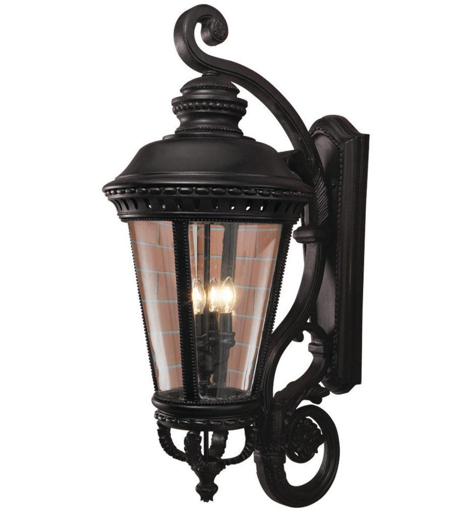 Feiss - OL1905BK - Castle Black 4 Light Outdoor Wall Lantern