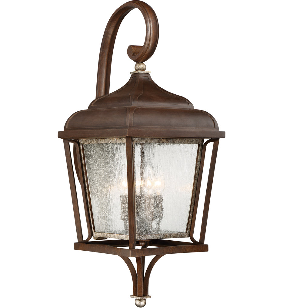 The Great Outdoors - 72543-593 - Astrapia Dark Rubbed Sienna 4 Light Outdoor Wall Lantern