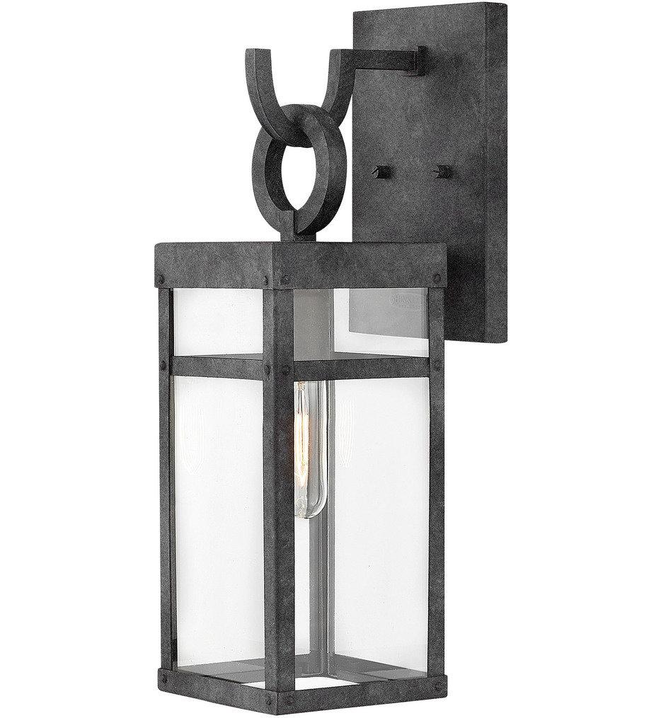 Hinkley Lighting - 2800DZ - Porter Aged Zinc 18.5 Inch Outdoor Wall Sconce