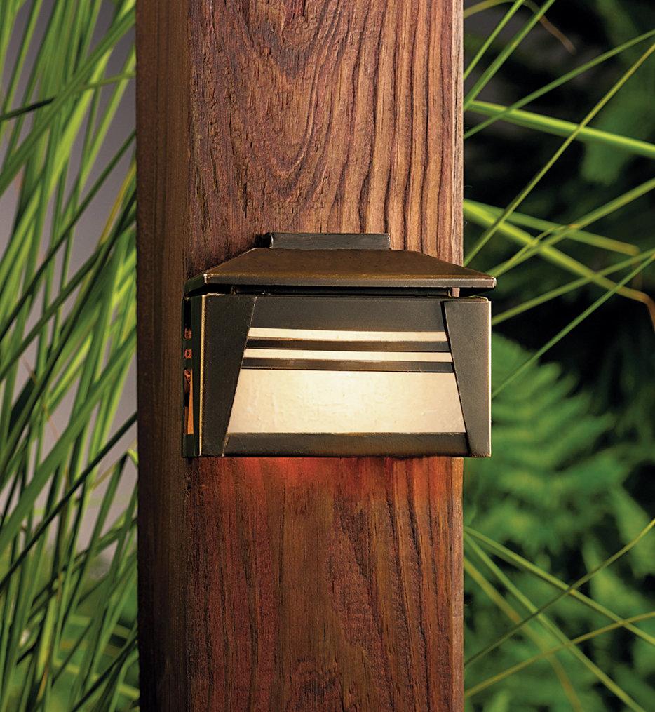 Kichler - 15110OZ - Zen Garden Olde Bronze 3.5 Inch 1 Light Deck Light
