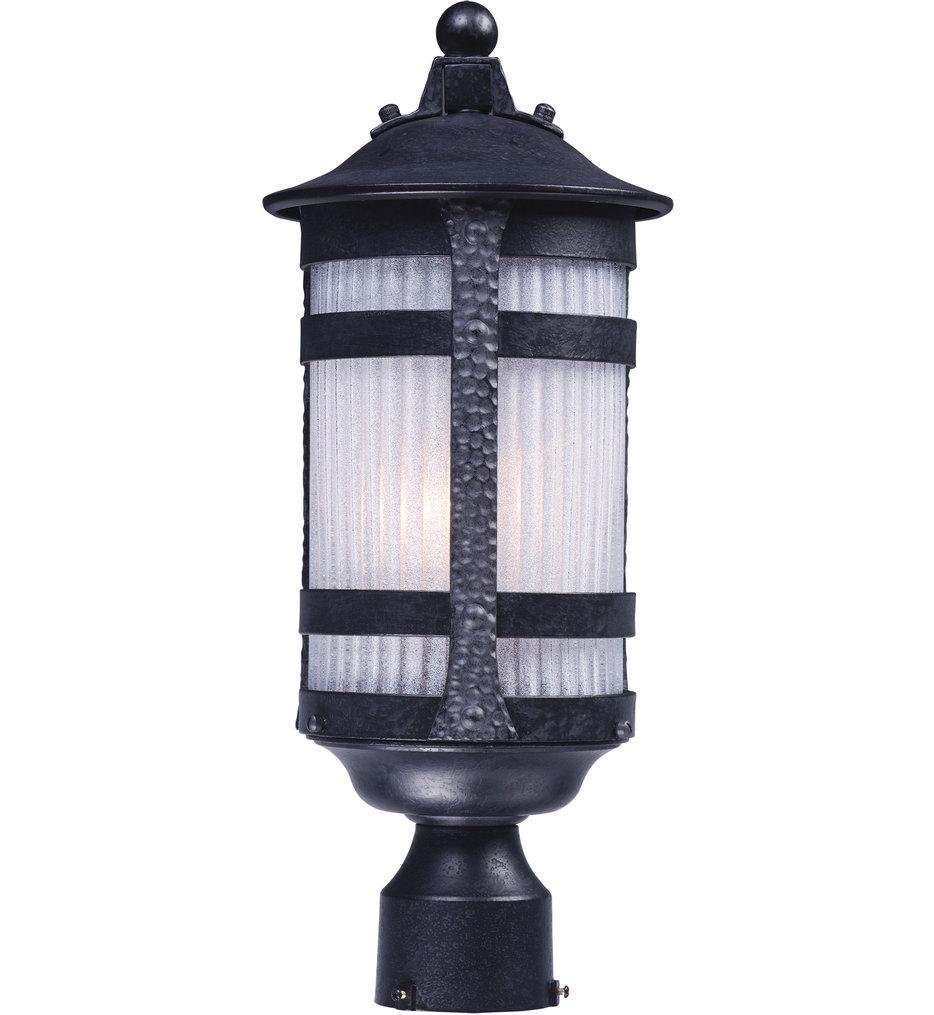 Maxim Lighting - Casa Grande Anthracite 1 Light Outdoor Post Lantern