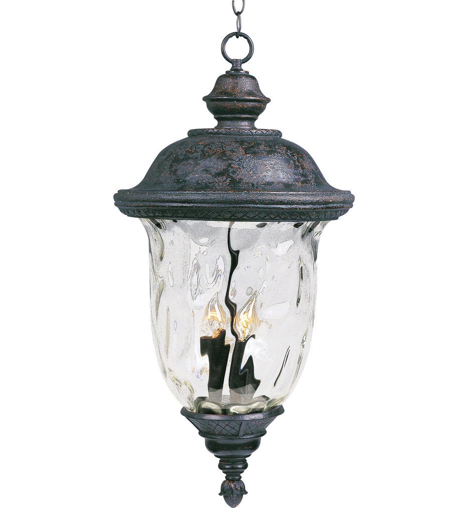 Maxim Lighting - 40427WGOB - Carriage House Oriental Bronze 24.5 Inch 3 Light Incandescent Outdoor Hanging Lantern
