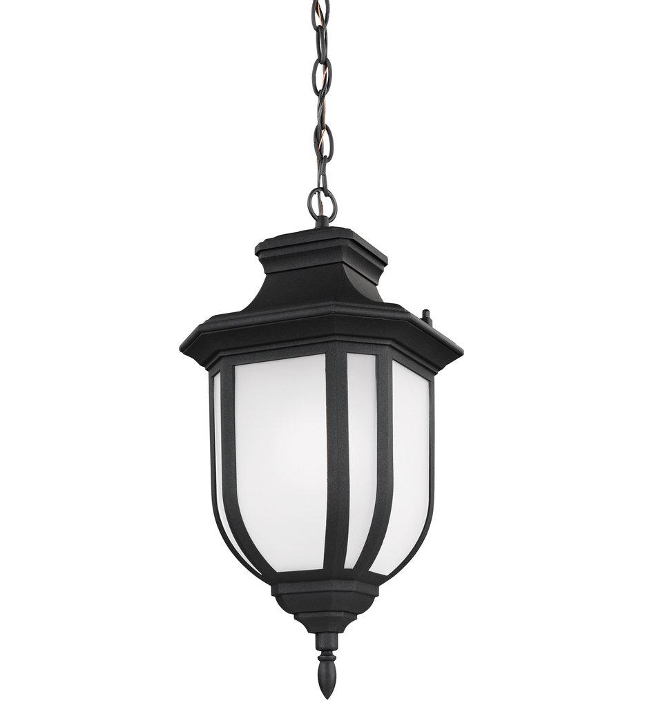 Sea Gull Lighting - 6236301EN3-12 - Childress Black 1 Light LED Outdoor Pendant
