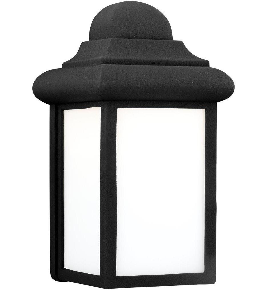 Sea Gull Lighting - 8988EN3-12 - Mullberry Hill Black 8.75 Inch 1 Light Outdoor Wall Lantern