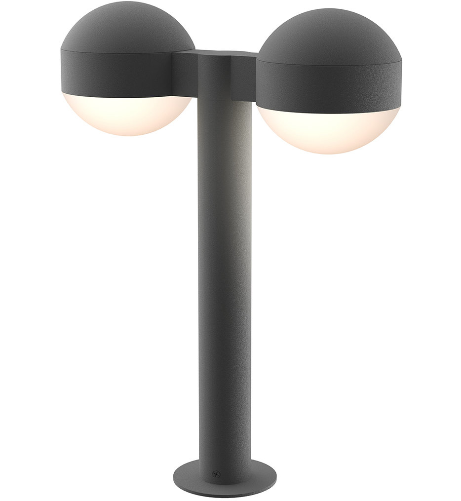 Sonneman - REALS 17.75 Inch Solid Top Dome Lens Double Bollard Outdoor Path Light