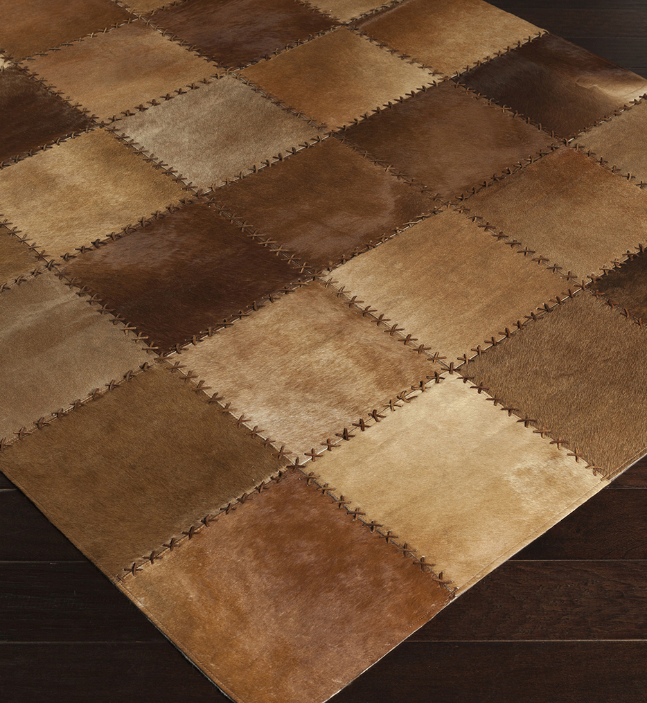 Surya - Texas Hides and Leather Hand Crafted Rug