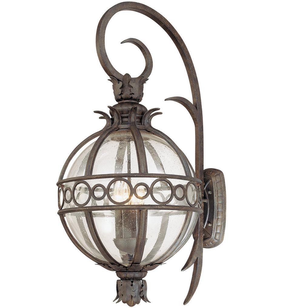 Troy Lighting - B5004CB - Campanile Bronze 4 Light Outdoor Wall Lantern