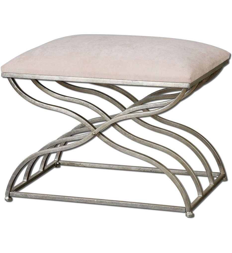 Uttermost - 23091 - Shea Satin Nickel Small Bench