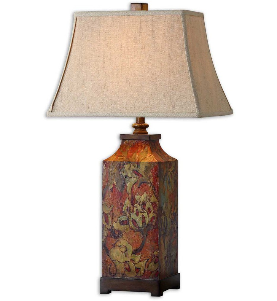 Lamps Com Uttermost 27678 Colorful Flowers Table Lamp