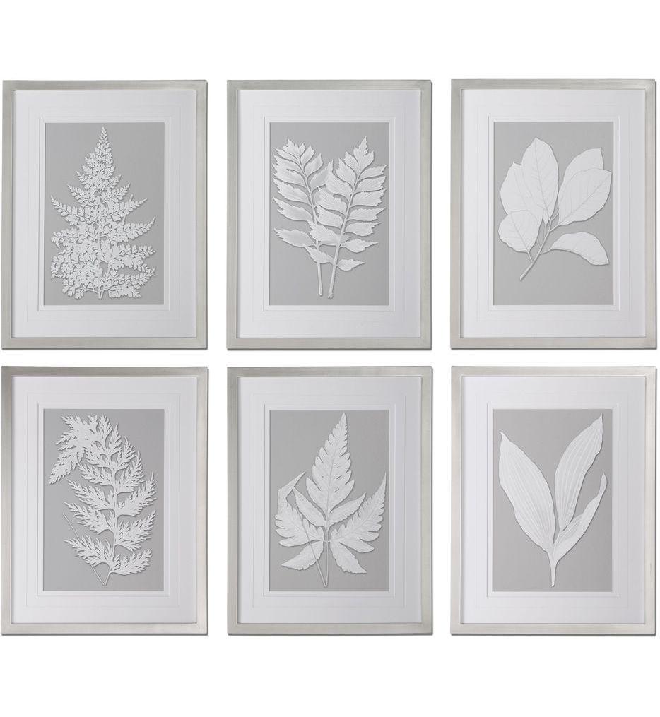 Uttermost - 41394 - Moonlight Ferns Framed Art (Set of 6)