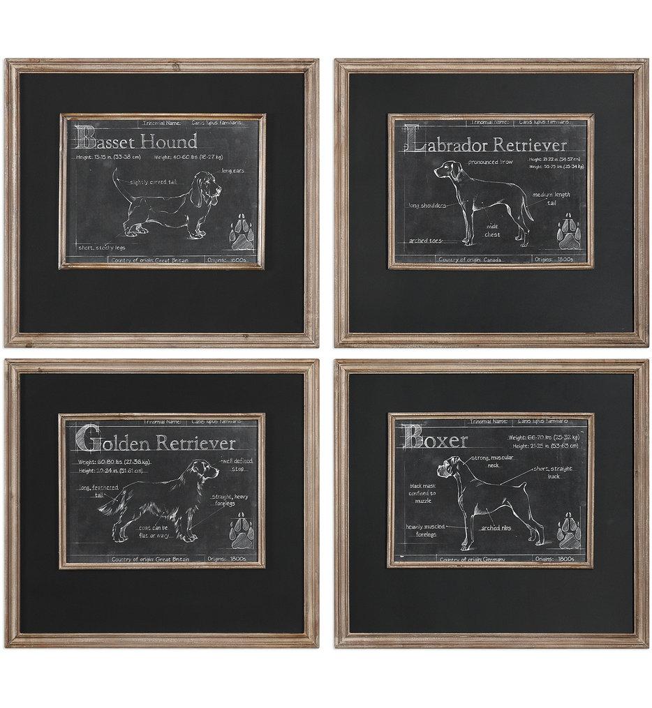 Uttermost - 51108 - Uttermost Canis Lupus Familiaris Prints (Set of 4)