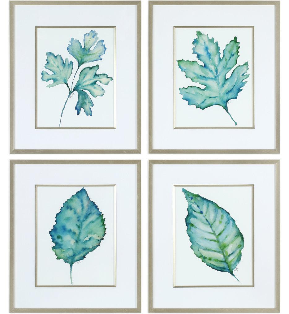Uttermost - 33675 - Uttermost Spring Leaves Prints (Set of 4)