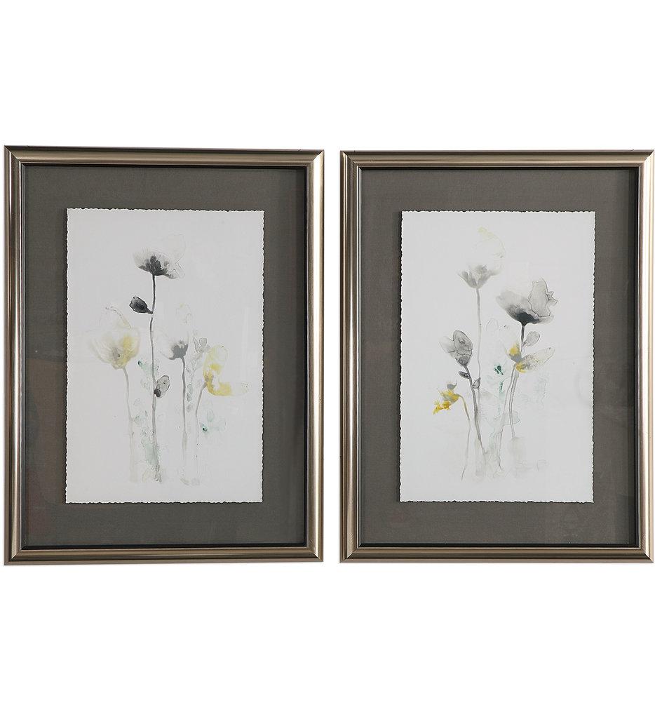 Uttermost - 33681 - Uttermost Stem Illusion Floral Art (Set of 2)