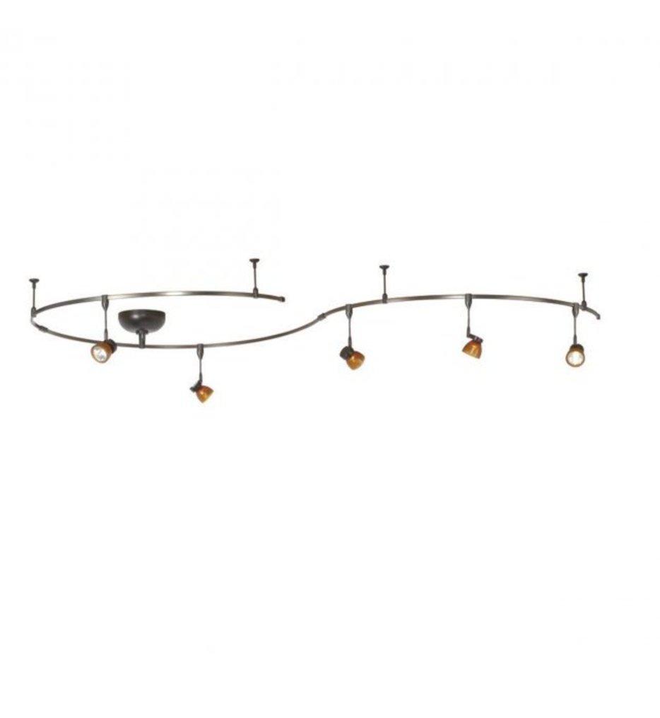 WAC Lighting - LM-K8111-AS/DB - Mint 5 Light Complete Dark Bronze Solorail Kit