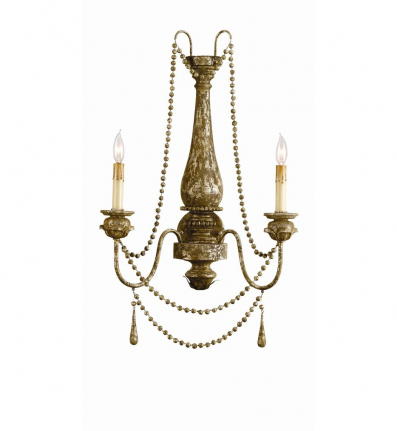 Currey & Company - 5026 - Eminence 2 Light Wall Sconce