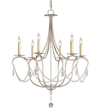 Currey & Company - 9890 - Crystal Lights SL Chandelier