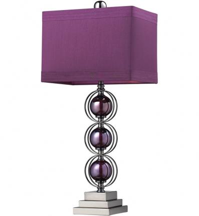 Dimond D2232 Purple / Black Nickel Alva Table Lamp