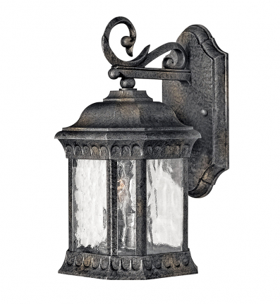 Hinkley Lighting - 1720BG - Regal Black Granite Small Outdoor Wall Sconce
