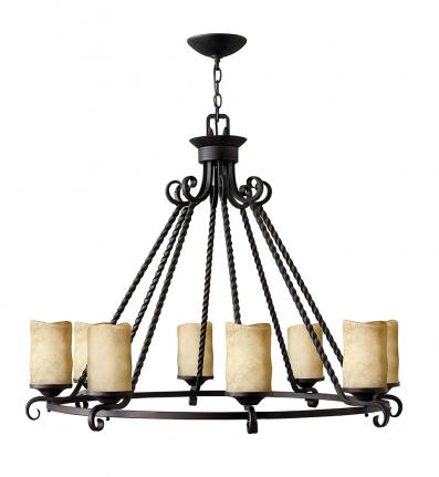 Hinkley Lighting - 4308OL - Casa Olde Black 8 Light Chandelier