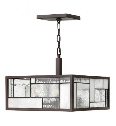 Hinkley Lighting - 4571KZ - Mondrian Buckeye Bronze 4 Light Pendant