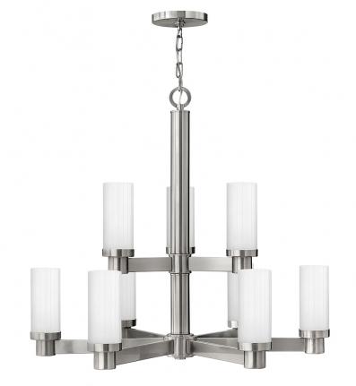 Hinkley Lighting - 4978BN - Midtown Brushed Nickel 9 Light Chandelier