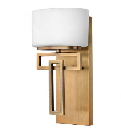 Hinkley Lighting - 5100BR - Lanza Brushed Bronze Xenon 1 Light Bath Sconce