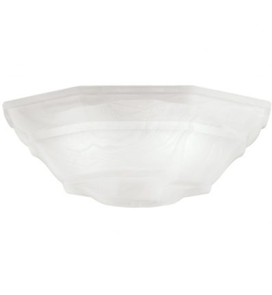 Kichler - 340103 - White Cased Opal And Clear Universal Bowl Glass