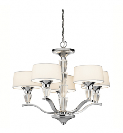 Kichler - 42029CH - Crystal Persuasion 5 Light Chrome Mini Chandelier