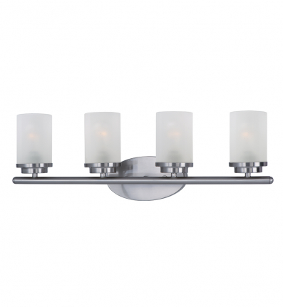 Maxim Lighting - 10214FTSN - Corona 4 Light Bath Vanity