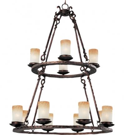Maxim Lighting - 10977WSOI - Notre Dame 12 Light Chandelier