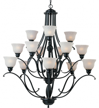 Maxim Lighting - 11809ICBK - Linda 15 Light Chandelier