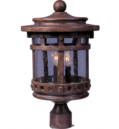 Maxim Lighting - 40036CDSE - Santa Barbara Vivex 3 Light Outdoor Pole Lantern