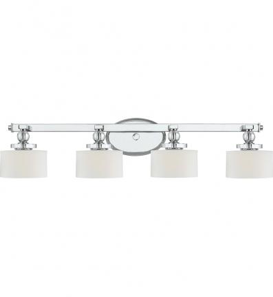 Quoizel - DW8604C - Downtown Polished Chrome 4 Light Bath Vanity