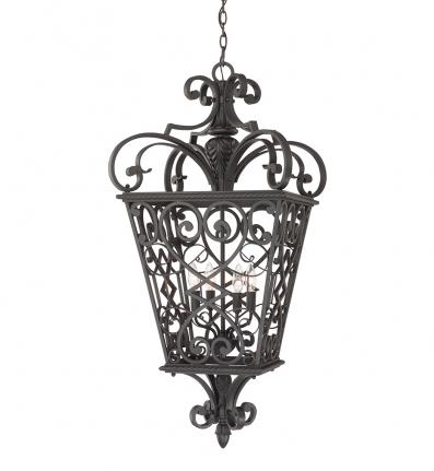 Quoizel - FQ1920MK01 - Fort Quinn Marcado Black Outdoor Hanging Lantern