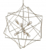 Currey & Company - 9455 - Aerial 6 Light Chandelier with Silver Granello Finish