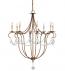 Currey & Company - 9881 - Crystal Light 8 Light Rhine Gold Chandelier