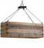 Currey & Company - 9994 - Billycart 3 Light Chandelier with Natural Aged Wood/Black Smith Finish